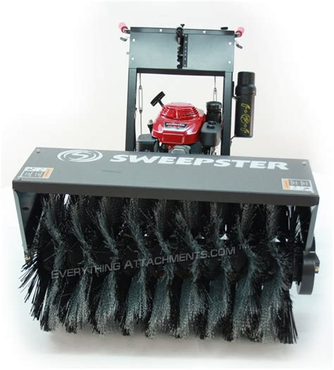 wsp walk  sweeper  hp honda manual angle sweepster broom