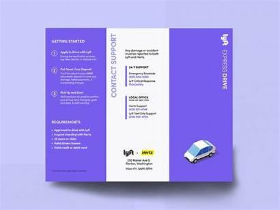 Brochure Fold Tri Dribbble Graphic Lyft Express