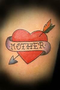 Best 25+ Mom heart tattoo ideas on Pinterest | Purple ink ...
