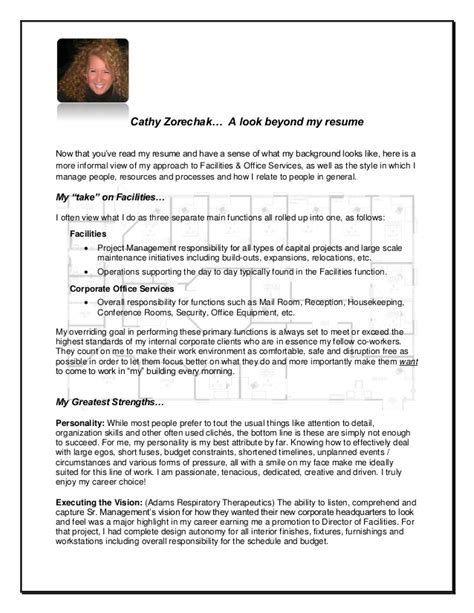 Look Beyond Resumes by Cathy Zorechak A Look Beyond My Resume