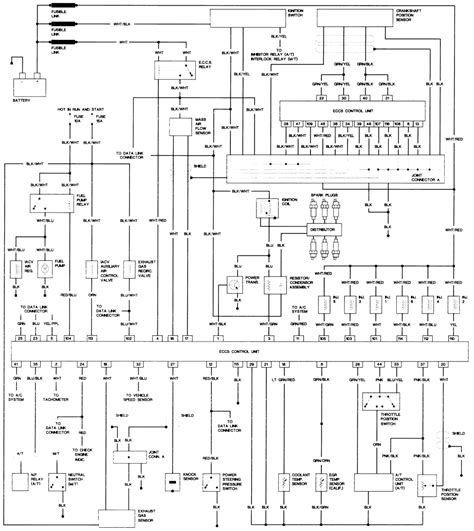 91 Nissan Wiring Diagram Light by Wiring Diagram For A Alternator 1991 4cyl Nissan