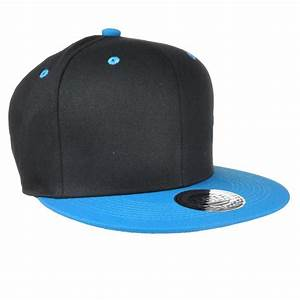 [UK SELLER] Plain Snap Back Baseball Flat Cap Hip Hop Hat ...