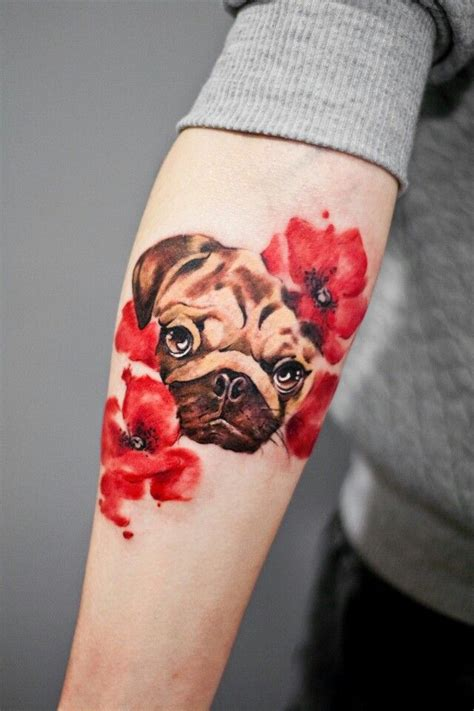 coolest pug tattoo designs   world