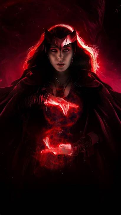 Scarlet Witch Iphone Wandavision Marvel Wallpapers Fan