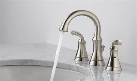 Delta Olmsted Faucet 35717 Ss Dst by Delta Mandara Widespread Faucet 243 Building Ideas