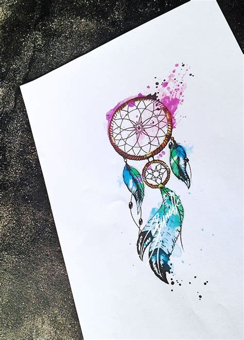 ideas  watercolor feather tattoos