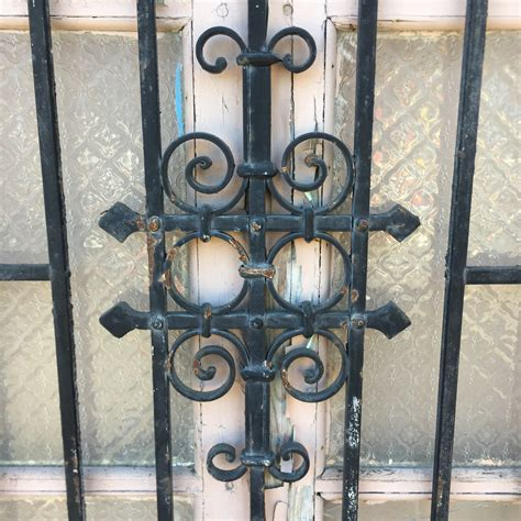 tunisian window  wrought iron guard