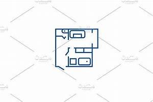 Blueprint, Flat, House, Plan, Line, Icon