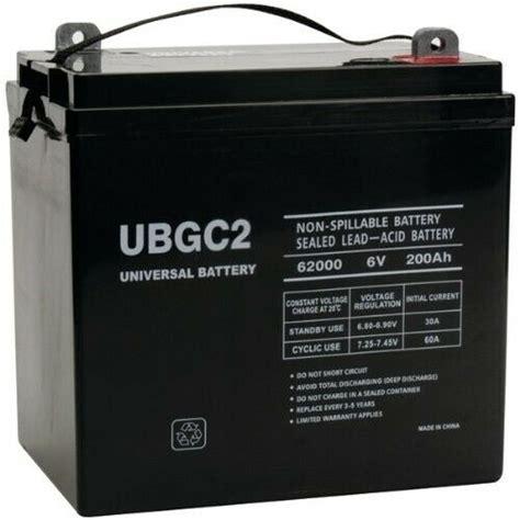 volt battery agm 6v solar cycle deep sealed rv golf 200ah cart gc2 210ah camper replaces boat leoch gf amazon