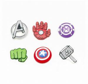 Avengers Logos Sugar Decorations - Pack of 6 Lollipop