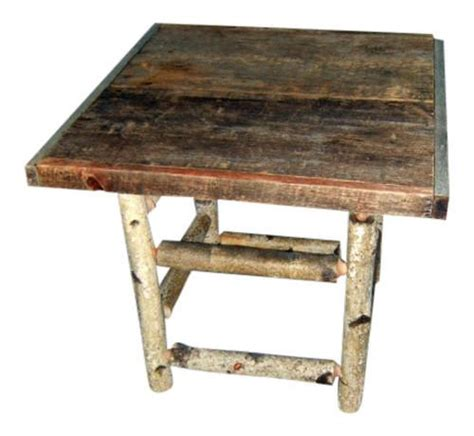 birch log table rustic birch log end table spirit of the woods rustic furniture decor