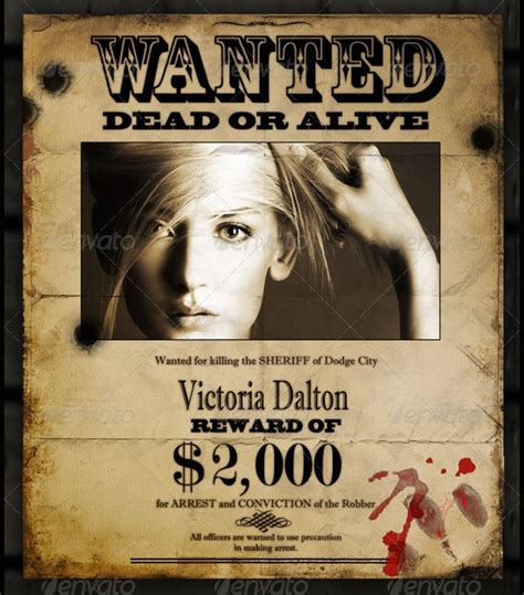 wanted posters  psd ai vector eps format