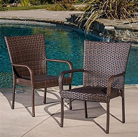 best selling outdoor wicker chairs 2 pack home patio