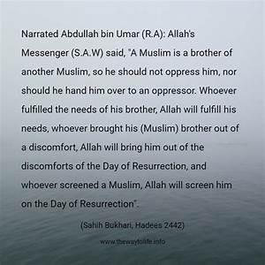 Sahih Bukhari, ... Abdullah Ibn Umar Quotes