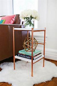 Copper Pipe Side Table DIY – A Beautiful Mess