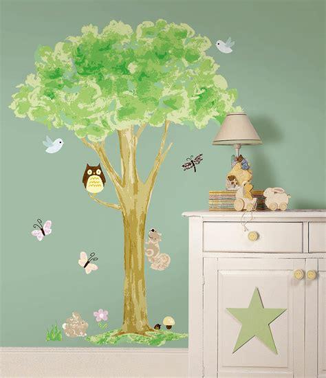 Wandsticker Wandtattoo Wandbild Baum Mit Waldtieren 140 Cm