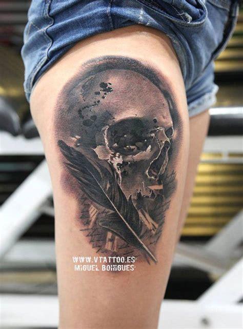 awesome skull tattoo designs thigh tattoos skull