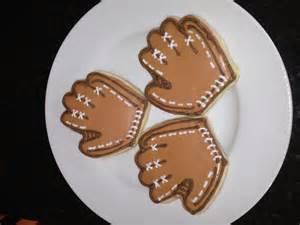Baseball Glove Sugar Cookies
