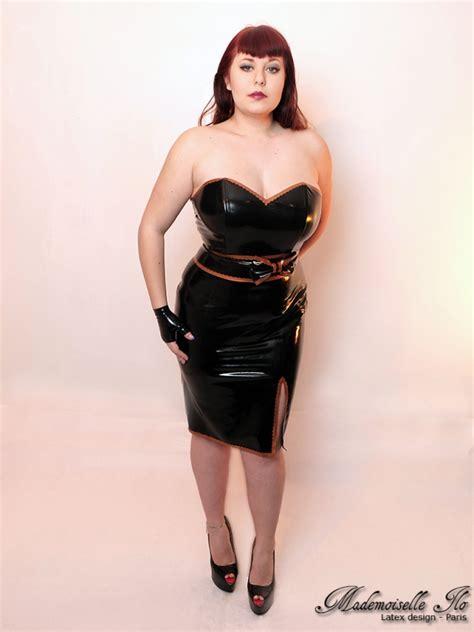 mademoiselle ilo barbara dress latex rubber paris france