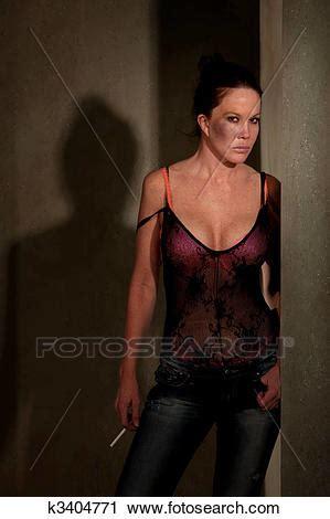 stock photography  prostitute  hallway