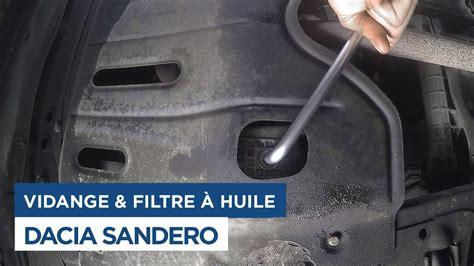 vidange  changement du filtre  huile sur dacia sandero