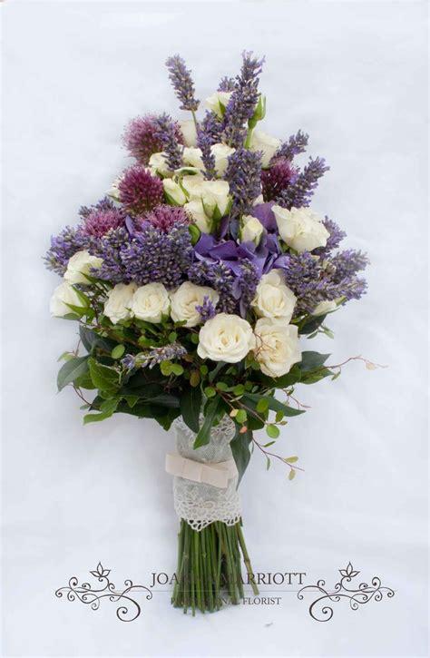 Purple And Cream Bridal Bouquet Cream Roses Purple