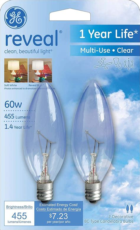 pack ge reveal  light bulbs decorative  type