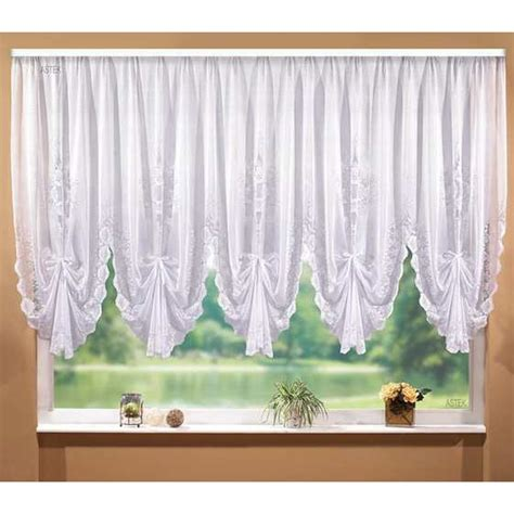 white lace blinds kitchen window valance curtain short