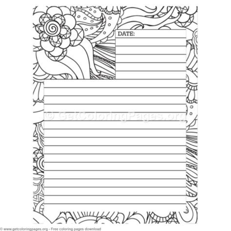 printable blank journal pages getcoloringpages org