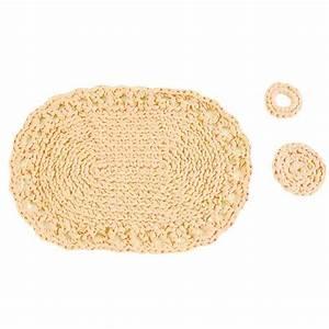 Set De Table Au Crochet : set de table piemonte couleur beige cr037k1 tricot crochet kits hooked zpagetti ~ Melissatoandfro.com Idées de Décoration