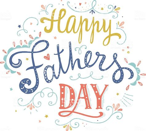 Happy Fathers Day Clipart Happy Fathers Day Vector Card Stock Vector More