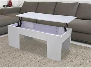 Table Basse Tablette Relevable : table basse maria 100 x 50 x 43 55 5 cm blanc 68024 68031 ~ Teatrodelosmanantiales.com Idées de Décoration