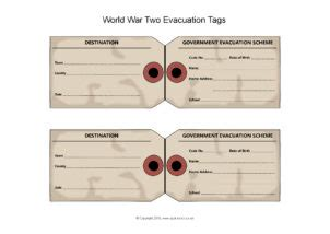 ww child evacuee label printable labels   ideas