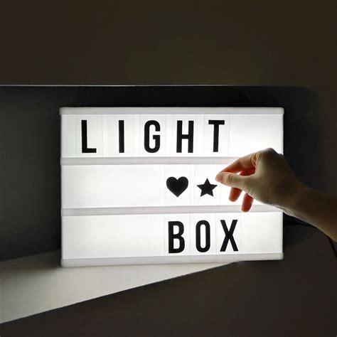 cinema box led light cinema light box diy letter display party shop wedding