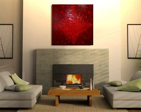 30 Wall Decor Ideas For Your Home: LARGE Red Textured Modern Abstract Painting Urban Original