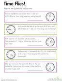 kids completing   grade math worksheet  time