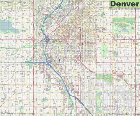 large detailed street map  denver