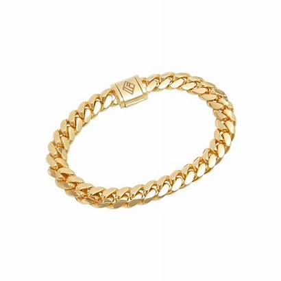 Cuban Bracelet Link Gold 9mm Bracelets Jewelry