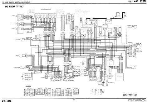 honda vt   shadow sabre wiring diagram