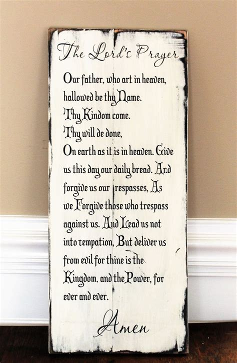 lords prayer   reclaimed wood christian wall