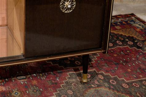 mid century rolling dry bar cabinet  stdibs