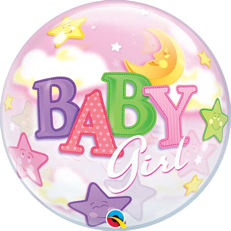 bubble ballon baby girl mond sterne cm bubble
