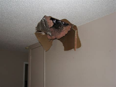 barry the cable stepped thru my popcorn ceiling in