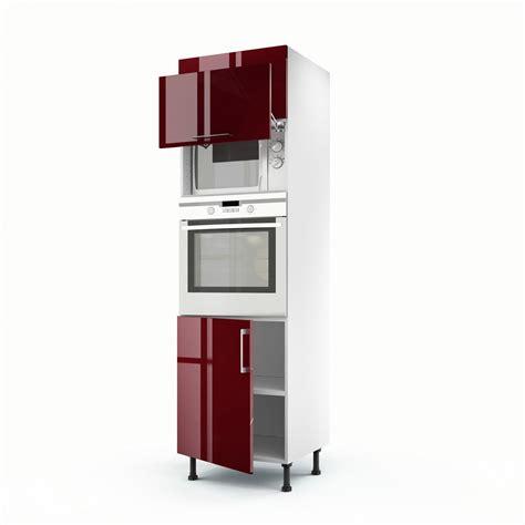 cuisine avec colonne meuble de cuisine colonne 3 portes griotte h 200 x l