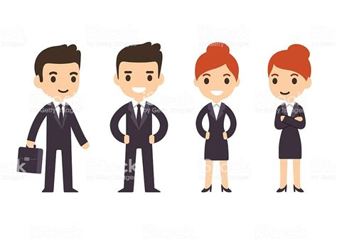Cartoon Business People Stock Vector Art & More Images Of