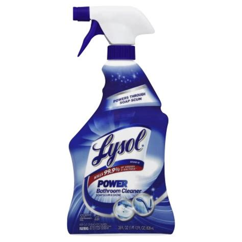 Lysol Bathroom Cleaner With by Lysol Power Bathroom Cleaner Spray 28 Ounce Walmart
