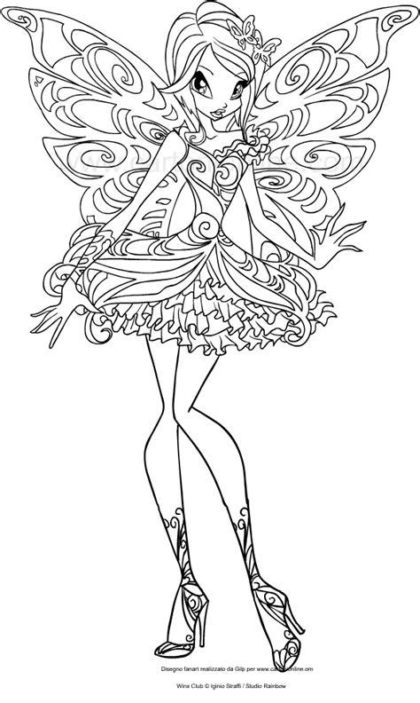 disegni da colorare winx stella disegno di tecna butterflix winx club da colorare