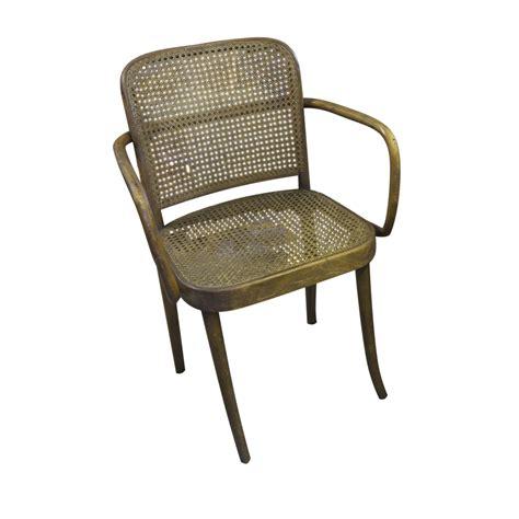 josef hoffmann 3 chairs model prague mid century