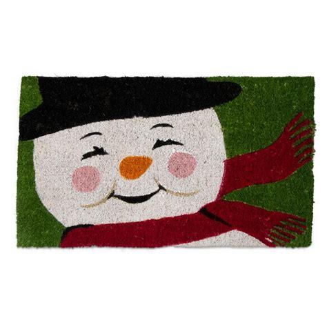 tag coir doormat tag vintage snowman 18 in x 30 in coir door mat