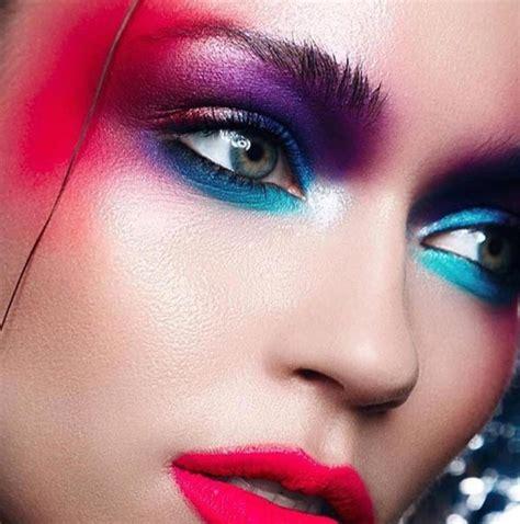 colored eye shadow colorful eye makeup ideas  fall winter